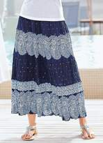 Together Crinkle Print Maxi Skirt