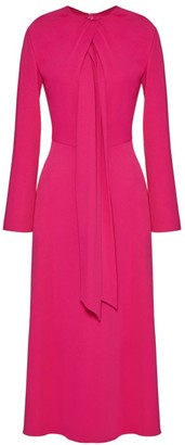 Valentino Scarf Crepe Midi Dress