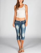 ALMOST FAMOUS Roll Cuff Womens Denim Capris