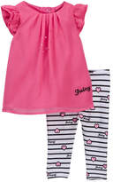 Juicy Couture Chiffon Tunic & Heart Print Legging Set (Baby Girls 3-9M)