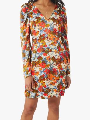 Ghost Bette Satin Dress, Multi