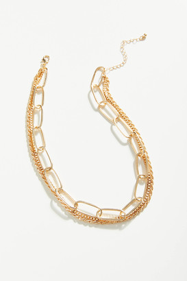 Urban Outfitters Chunky Chain Layer Necklace