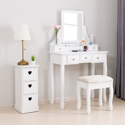 Charlton Home Castellanos 42 Single Bathroom Vanity Set With Mirror Base Finish White Shopstyle