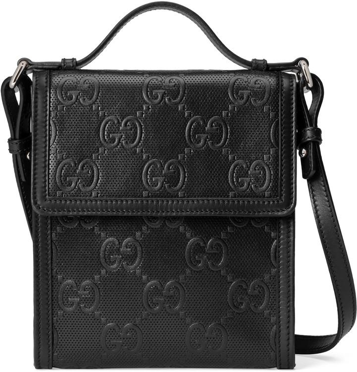 Gucci GG embossed messenger bag