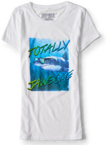 Aeropostale Girls' Totally Jawsome Shark Week Graphic T