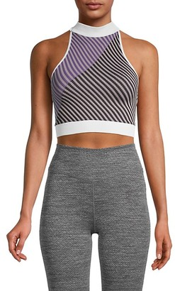 FREE PEOPLE MOVEMENT Striped Crisscross Back Top