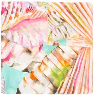 Blumarine Watercolour Print Silk Scarf