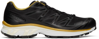 Fumito Ganryu Black and Yellow Salomon Edition XT-6 Trekking Sneakers