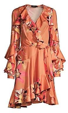 PatBO Women's Carmen Floral Ruffle Wrap Dress - Size 0