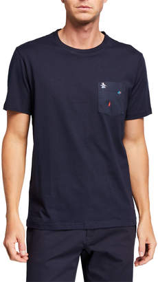 Original Penguin Penguin Men's Short-Sleeve Robot Printed Pocket T-Shirt
