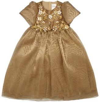 Dolce & Gabbana Kids Embroidered Floral Dress (8-12 Years)