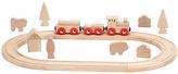 Natural Creative Fun Wood 23-Piece Train Set