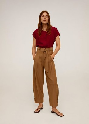 MANGO Dolman sleeve blouse ecru - 2 - Women