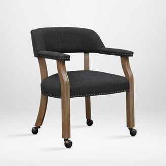 Gracie Oaks Henrietta Upholstered Dining Chair Gracie Oaks Upholstery Color: Charcoal