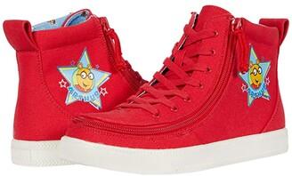 Billy Footwear Kids BILLY Footwear Kids Classic Lace High Arthur Star (Little Kid/Big Kid) (Red) Kid's Shoes