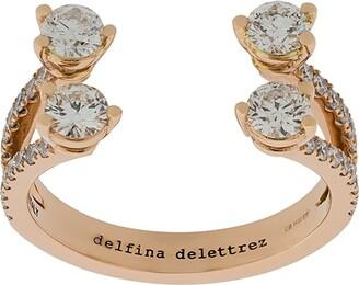 Delfina Delettrez 18kt rose gold Dots Diamond pave ring