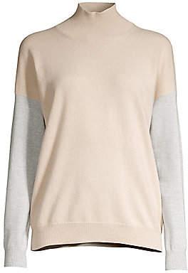 Peserico Women's Colorblock Turtleneck Sweater