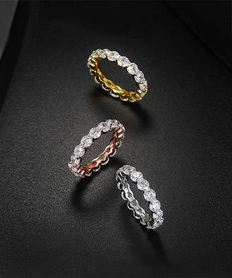 Swarovski Golden Moon Women's Rings Tri - Tri-Tone Ring Set With Crystals