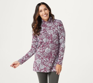 Cuddl Duds Comfortwear Cowl Neck Long Sleeve Tunic Top