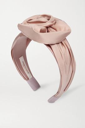 Jennifer Behr Rosamund Silk-faille Headband - Blush
