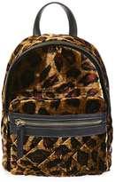 Mini velvet backpack