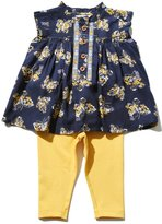 M&Co Butterfly print smock top and legging set