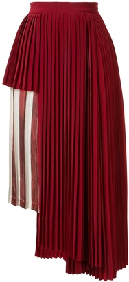 Maison Mihara Yasuhiro Striped Panel Pleated Skirt