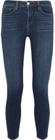 L'Agence The Margot Cropped Mid-rise Skinny Jeans - Mid denim