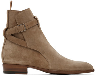 Saint Laurent Tan Wyatt Jodhpur Boots