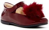 Naturino Faux Fur Pompom Ballet Flat (Baby, Toddler, & Little Kid)