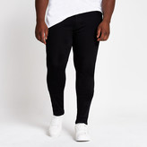 River Island Big and Tall black Ollie spray on fit jeans