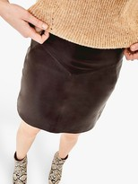 Oasis Leather Seam Detail Mini Skirt