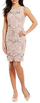 Calvin Klein Sequin Embroidered Lace Dress