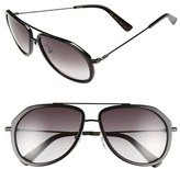 MCM Women's 58Mm Aviator Sunglasses - Black