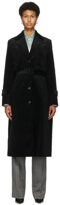 Commission Black Corduroy Trench Coat