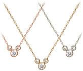 Disney Diamond Icon Mickey Mouse Necklace - 14K - Small