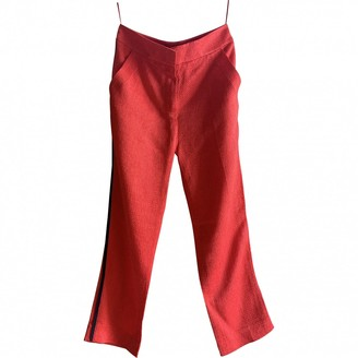 Louis Vuitton \N Red Trousers for Women