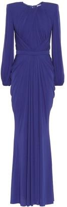 Alexander McQueen Gathered crApe gown