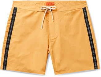 Saturdays NYC Mid-Length Logo-Appliqued Swim Shorts