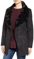 Jessica Simpson Women's Asymmetrical Faux Shearling Jacket