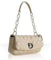 stone quilted cannage lambskin small shoulder bag