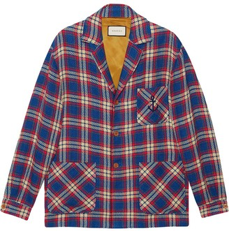 Gucci Plaid-Pattern Single-Breasted Jacket