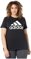 adidas Plus Size Badge Of Sport Cotton Inclusive Tee (Black) Women's Clothing