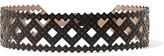 Alaia Studded Laser-Cut Leather Belt
