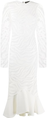 David Koma Fishtail-Hem Cocktail Dress