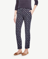 Ann Taylor The Petite Ankle Pant in Tree Jacquard - Devin Fit