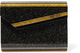 Jimmy Choo Candy Glittered Acrylic Clutch - Black