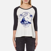 Maison Scotch Women's 3/4 Sleeve A Line TShirt with Artwork - Combo C
