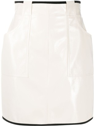 Philosophy di Lorenzo Serafini Stitched Panel Mini Skirt