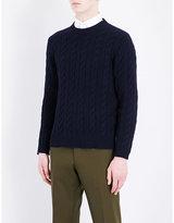 United Arrows Crewneck cable-knit cotton jumper